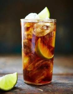 whisky cola cocktail