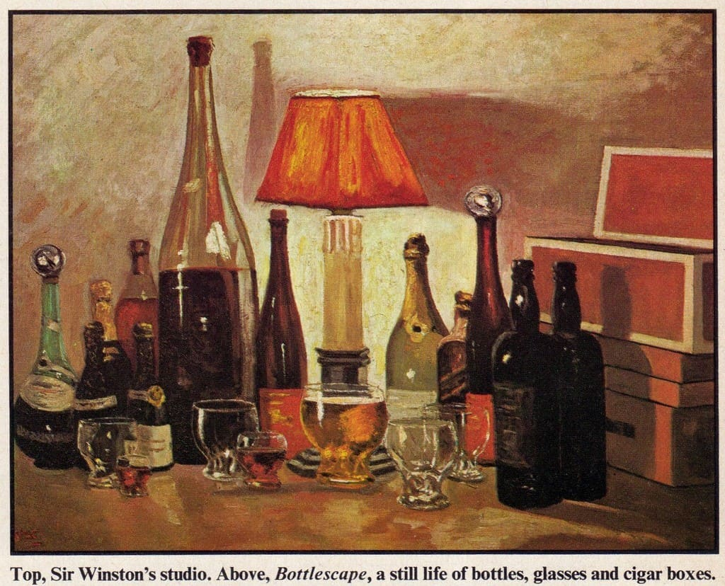 Winston Churchil's Paiting, Johnnie Walker Black Label