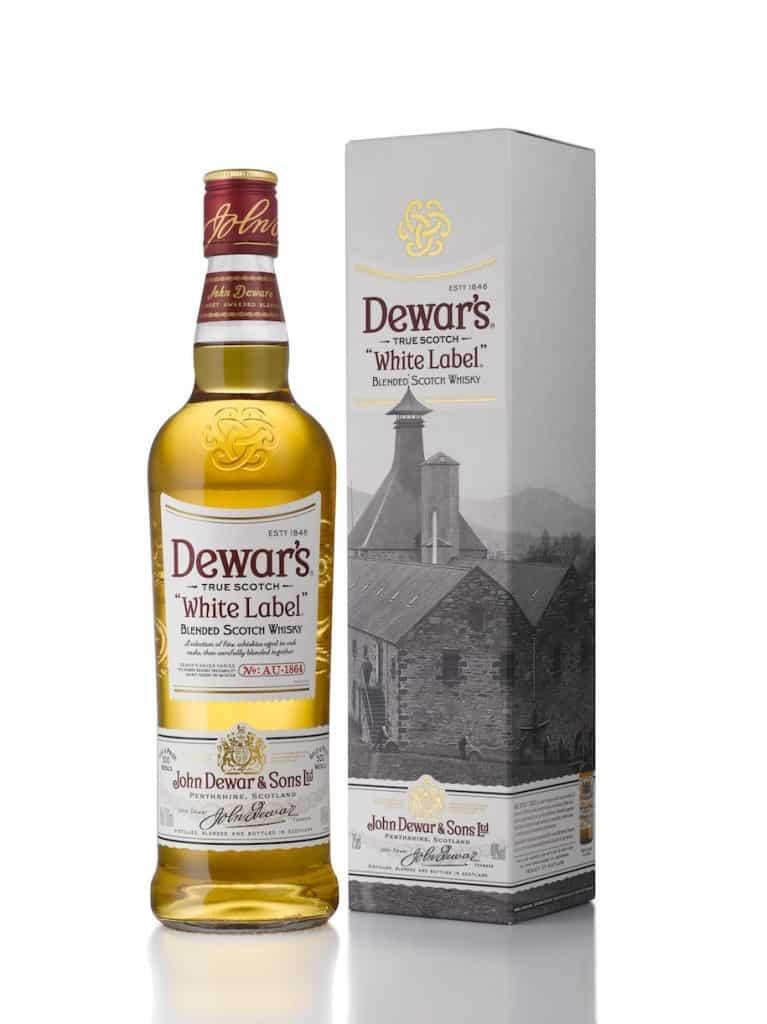 bottiglia di Dewars White Label