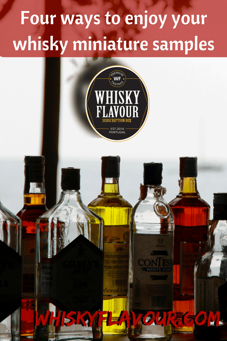 Four ways to enjoy your whisky miniature samples