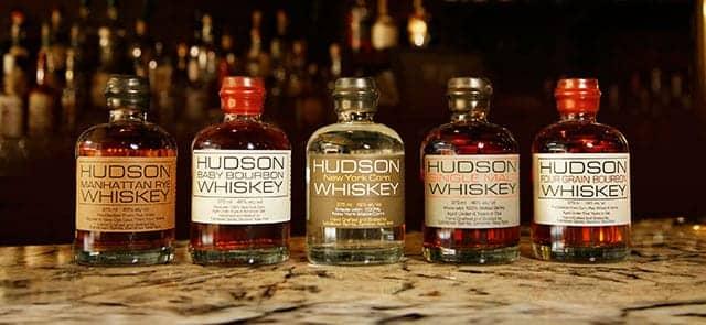 5 bottles of Hudson Baby Bourbon