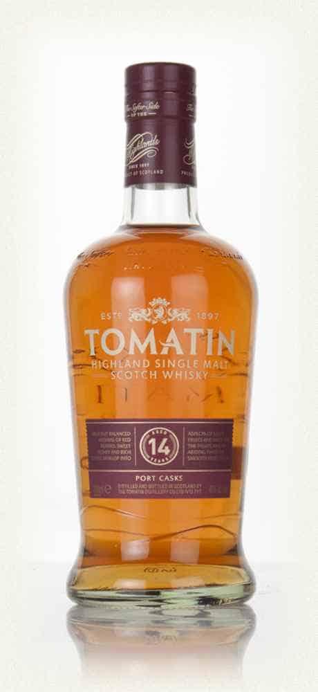 tomatin 14 year old port wood finish whisky