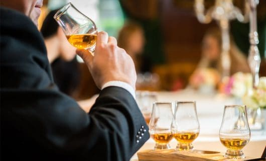 Whisky tastings at a bar
