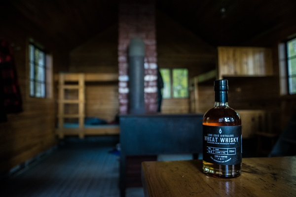 A bottle of grain scotch whisky