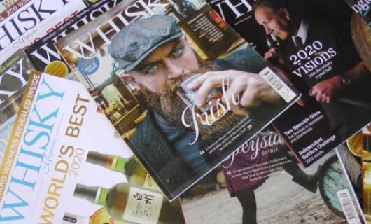 Several whiskey magazines
