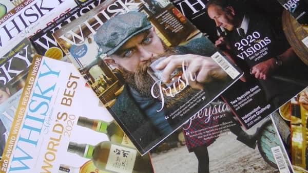 Several whiskey magazines