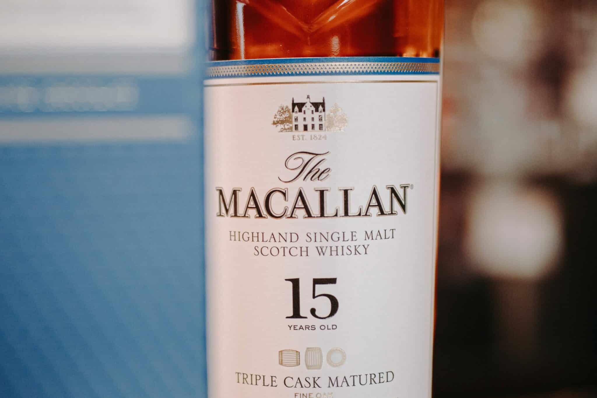 Bottle of macallan 15 years