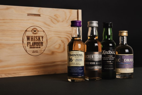 Whiskey subscription box miniatures