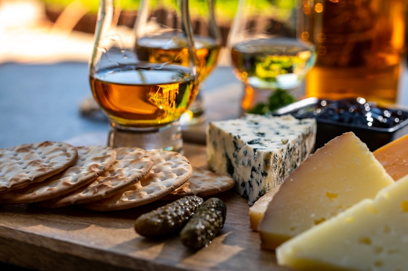 Cheese is a great option for The macallan and food pairing