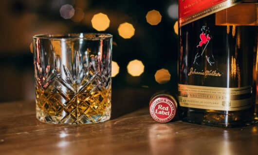 Glass of Johnnie Walker Red Label